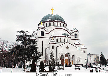 Orthodox church in Belgrade - Orthodox church Sveti Sava in...