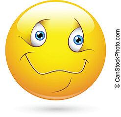 Cute Smiley Face - Creative Abstract Conceptual Design Art...