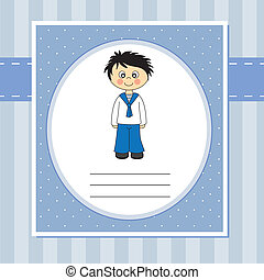 First Communion Invitation Card  boy