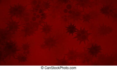 Red bacteria - Bacteria motion background