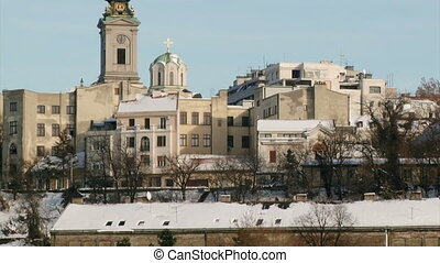 Belgrade, Serbia - Belgrade, buildings, Church, tilt up