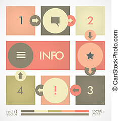 Infographic design template - Simple infographic, paper tags