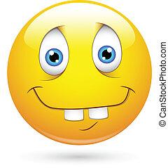 Idiot Funny Smiley Face - Conceptual Design Art of Idiot...