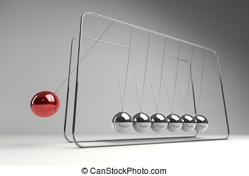 Variation - Chrome balancing spheres know as Newtons Cradle...