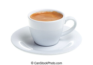 espresso cup isolated on white background - espresso in a...