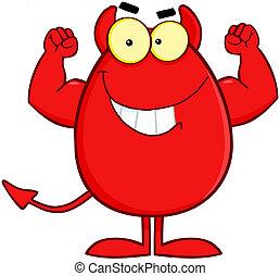 Devil Easter Egg Cartoon Character