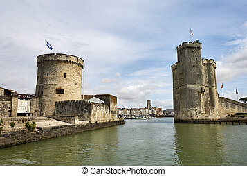 The old port of La Rochelle (France)