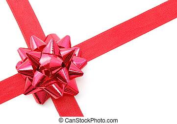 Geschenk, Weihnachten, geschenkband