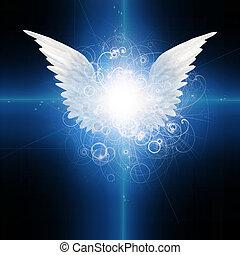 winged, anjo