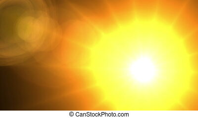 abstract background - glowing sun