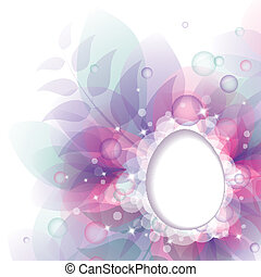 easter background - easter abstract background with frame of...