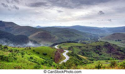 Winding Road in South Africa - Winding road between Sabie...