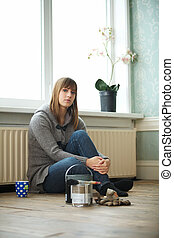 Young Woman Relaxing Indoors