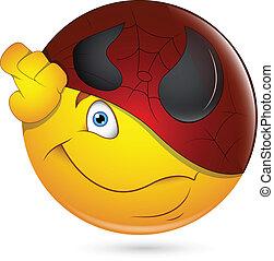 Being Super Hero Smiley Face - Creative Abstract Conceptual...
