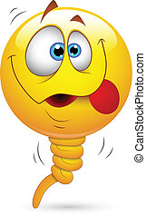 Balloon Smiley Funny Face - Creative Abstract Conceptual...