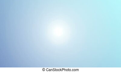 Beautiful sun over blue sky, HD 1080