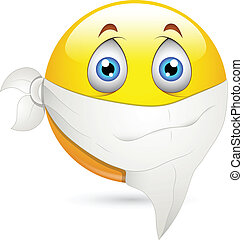 Handkerchief on Face Smiley Vector - Creative Abstract...