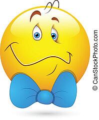 Gentle Man Smiley Face - Creative Abstract Conceptual Design...
