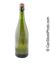 sparkling wine - object on white - sparkling wine bottle