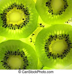 Close up on Kiwi fruit