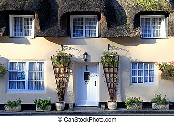 Thatched cottage in Lulworth village dorset england
