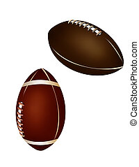 Ball collection - american football and rugby ball