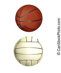 Ball collection - handball & basketball
