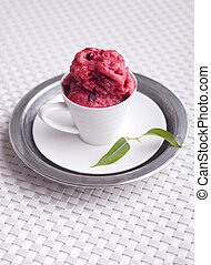 Berry sorbet - Espresso cup with delicious cold berry sorbet...