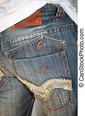 Blue denims - an image of a pair of denim trousers