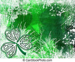 celtic Shamrock background - an illustration of a st...
