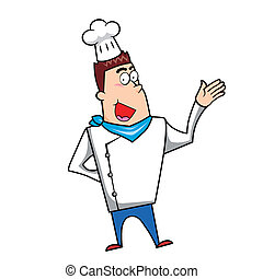 Cartoon Chef - Cartoon chef vector illustration.