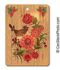 Decorated cutting board
