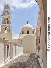 Fira catholic cathedral 02 - The catholic cathedral situated...