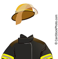 Firefighter - illustration of a firemans uniform - invisible...