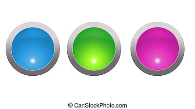 glossy orbs - illustrated glossy orbs