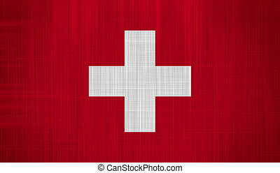 Switzerland Flag with a fabric texture