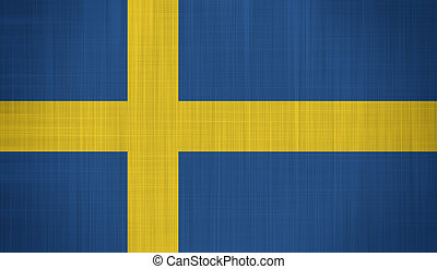 Sweden Flag with a fabric texture
