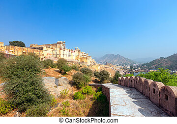 Amber Fort  -  Amber Fort in Jaipur, Rajasthan, India, Asia