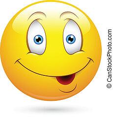 Charming Smiley Face - Creative Abstract Conceptual Design...