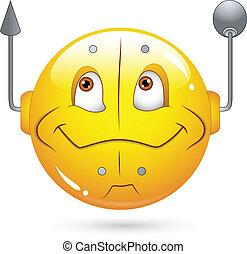 Robotic Smiley Face - Creative Abstract Conceptual Design...