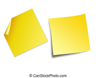 Post it notes - an illustration of post it notes isolated on...