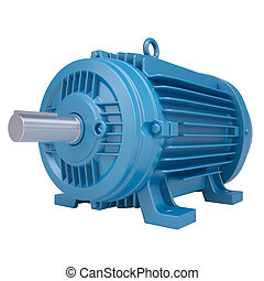 Electromotor Isolated render on a white background