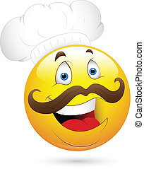 Happy Chef Smiley Face - Creative Abstract Conceptual Design...