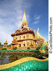 pagode, wat, chalong, Phuket