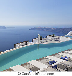 Santorini Luxury Pool at Imerovigli - A luxury swimming pool...