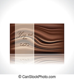 chocolate card template