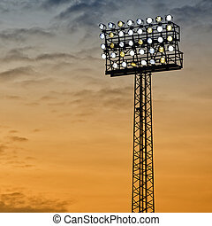 Sports Arena Floodlight - A typical stadium or sports arena...