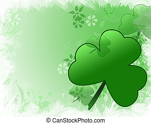 St Patricks day background - an illustration of a green...