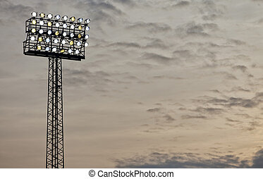 Stadium Floodlight - A typical stadium or sports arena...
