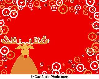 Christmas design - Decorative seasonal Christmas rudolf and...